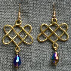 Celtic 'square-knot' drop earrings