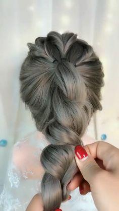 Hairdo For Long Hair, Easy Hairstyles For Long Hair, Bun Hairstyles, Hair Tutorials For Medium Hair, Medium Hair Styles, Short Hair Styles, Hair Style Vedio, Hair Upstyles, Great Hair