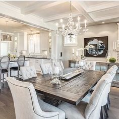 Rustic Glam Achieve this look with Canalside Interiors' rustic Artisan Dining Table and with the classic and glamorous Bennet Chairs in cream. Throw in a chandelier for good measure! Available now. Visit our showroom or website for more details. OPEN 7 DAYS | 38 Burrows Rd Alexandria www.canalside.com.au Design by Gregory Funk via Pinterest #furniture #canalsideint #canalsideinteriors #Sydney #Alexandria @canalsideint