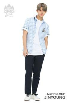 Wanna one Bae Jinyoung Jinyoung, Ivy Club, Boy Fashion, Mens Fashion, Kim Jaehwan, Ha Sungwoon, Asian Celebrities, Kpop, Seong