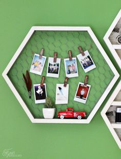 Clip up instax photos for an instant gallery
