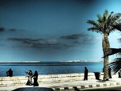 The famous waters of Alexandria Egypt