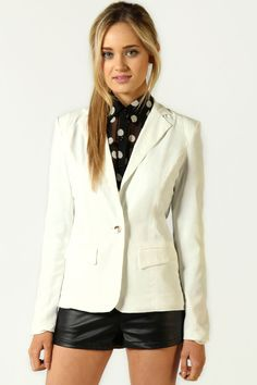 Alice Padded Shoulder Fitted Blazer - got this and rock it on occasion.