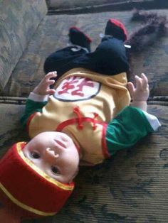 9 Super Cute Kids in Dragon Ball Z Cosplay: Cute Baby Dressed Up as Dragon Ball Z's Gohan Baby Costumes, Cosplay Costumes, Family Costumes, Halloween Cosplay, Cosplay Ideas, Halloween Costumes, 17 Kpop, Cute Baby Dresses, Dragon Ball Z Shirt