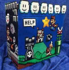 DeviantArt: More Collections Like Super Mario sprite Hama PC Modding 1 by Hamamia Hama Beads Mario, Diy Perler Beads, Pearler Bead Patterns, Perler Patterns, Cute Crafts, Bead Crafts, Street Fighter Ryu, Loom Yarn, Pixel Beads