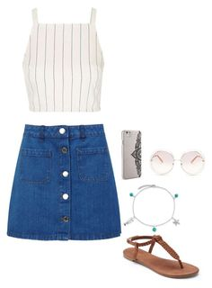 """""""Untitled #148"""" by emmaruus on Polyvore featuring Miss Selfridge, Topshop, Apt. 9, Bling Jewelry, Nanette Lepore and Chloé"""