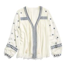 Stitch Fix New Arrivals: Embroidered Boho Blouse