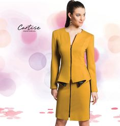 Mustard and faux leather set. #Businesschic #fallfashion #musthave #Cartise #women #apparel #coloryourlife  www.cartise.ca