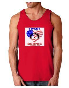 TooLoud I Want Bernie - Sanders 2016 Dark Loose Tank Top