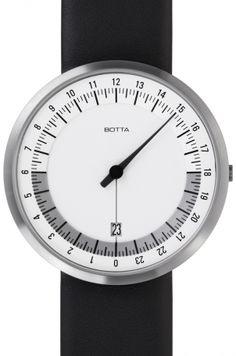 UNO 24 White Leather Designer : Klaus Botta  Marque : Botta Design