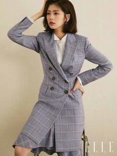 Jung So-min (정소민) Jung So Min, Young Actresses, Korean Celebrities, Korean Girl, Korean Fashion, Suit Jacket, Glamour, Shirt Dress, Suits