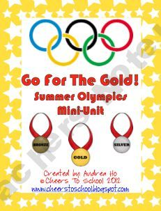 Summer Olympics Mini Unit - some neat activities in this one