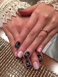 weldding nails Black & Ribbon Design