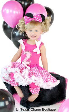Birthday Girl Boutique 1st Birthday Shirt Minnie Mouse Polka Dots 18 24mo Pink   eBay