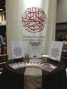 Zaytuna College's information booth at the 2103 ISNA convention in Washington, D.C.