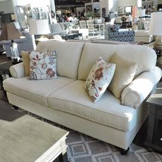 Shop for the Belfort Essentials Sterling Traditional Sofa With Rolled Arms at Belfort Furniture - Your Washington DC, Northern Virginia, Maryland and Fairfax VA Furniture & Mattress Store Traditional Sofa, Traditional Furniture, Living Room Sofa, Home Living Room, Conversation Sofa, Home Theater Furniture, Belfort Furniture, Home Theater Seating, Room Planning