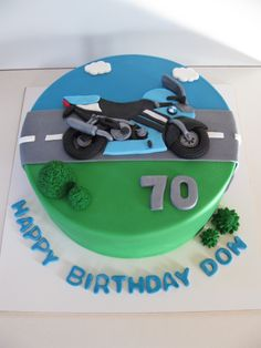 Motorcycle Cake - for a bike enthusiast! Homemade By Hollie.