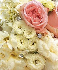 """These synthetic diamonds will look like a """"million bucks"""" added to wedding bouquets, centerpieces or anything else that requires a little sparkle. Features and Facts: Package of Size 2 Long. Choice of diameter or diameter - Davids Bridal sale Bridesmaid Bouquet, Wedding Bouquets, Wedding Flowers, Blush Weddings, Wedding Favors, Party Favors, Bridesmaids, Diamond Wedding Theme, Wedding Ceremony Decorations"""