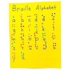 DIY braille alphabet