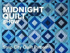 Strip City Quilt Pattern - Midnight Quilt Show Quilting Classes, Longarm Quilting, Free Motion Quilting, Machine Quilting, Quilting Templates, Quilting Designs, Quilt Patterns, Quilting Ideas, Red And White Quilts