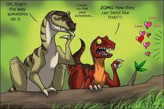 The Land Before Time-fanart.And not so innocent this time. I often wondering, HOW stegosaurs really did it? LBT - The Dark Side Disney Dinosaur Movie, Dinosaur Funny, Dinosaur Art, Godzilla, Far Side Cartoons, Dragon Knight, Jurassic Park World, Prehistoric Creatures, Pokemon Fan Art