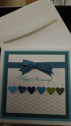 Could be any colour or number. Anniversary Cards For Husband, Wedding Anniversary Cards, Wedding Cards, Anniversary Ideas, Embossed Cards, Square Card, Birthday Cards For Men, Stamping Up Cards, Love Cards