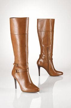 Ralph Lauren Vachetta Equestrian Boot in Polo Tan. Can't wait to have these babies in my hot little hands!!! :D