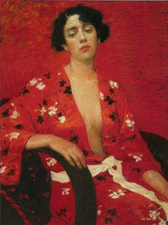 The Red Floral Kimono - Judy Drew