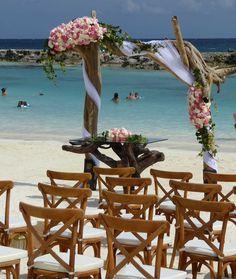 Hard Rock Riviera Maya wedding set up