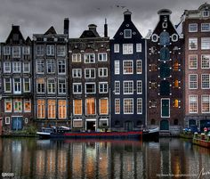Amsterdam, The Netherlands, The most beautiful strip of houses