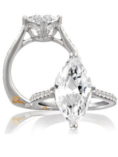 Marquise Engagement Ring  Your style: Old Hollywood (think: silver screen siren).   Your relationship: He puts you on a pedestal and lets you shine. But he's not afraid to help you laugh at yourself when you get too big for your britches.   Your wedding: Pure glamour. You'll create an enchanted atmosphere that wedding guests will never forget.   Ring by A.Jaffe  ©The Knot