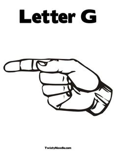 This is the correct hand formation for letter G. This is the back view. Remember, when you're fingerspelling a name or word to someone with this letter, they will not see this side. Instead, they'll see the front view which I posted before.
