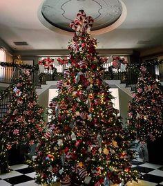 Kris' three Christmas trees. PIC: Kendal Jenner Instagram