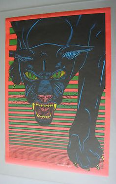 Vintage black light poster. Yup, had this one, too!