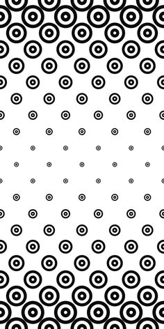 Monochrome repeating circle pattern