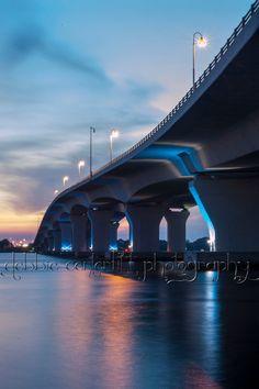 Blue Curves 8x10 Panama City Florida Hathaway Bridge