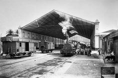 Estación de los Ferrocarriles Andaluces. Málaga, 1906-1910. Colección Thomas / IEFC