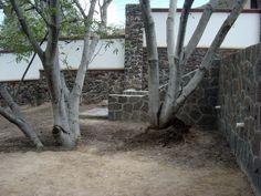 Escalera y muro de cantera, Huertas la Joya, Querétaro, Qro.