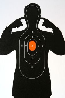 If you hear the crack you weren't the target. Paper Shooting Targets, Tupac Art, Indoor Shooting Range, Range Targets, Shooting Gear, Target Practice, Guns And Ammo, Cool Posters, Poster On