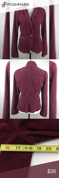 9a82111542b2 Calvin Klein Jeans Purple Blazer Corduroy MD Please go over the pictures.  Any questions please