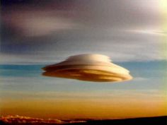 One of the strangest shaped clouds of all, the alto-cumulus standing lenticularis.  Often mistaken for UFOs, this cloud is usually caused by air being forced over a mountain or otherwise temporarily forced aloft.