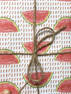 - 50 x luxury Gift Wrap - Printed onto high quality uncoated FSC certified paper - Recyclable - Carefully folded with or without a cellophane (biodegradable) envelope Rachel Reynolds, Biodegradable Products, Watermelon, Envelope, Recycling, Stationery, Greeting Cards, Gift Wrapping, Luxury