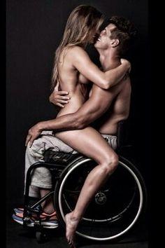 nude Wheelchair man