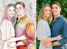 Unique engagement gifts for couple, ENGAGED COUPLE PORTRAIT painting from photo, Young couples gift for fiance, Best friend engagement gift Custom watercolor portrait Gifts for boyfriend Gifts For Engaged Friend, Gifts For Fiance, Couple Gifts, Golden Wedding Anniversary Gifts, Anniversary Gifts For Parents, Wedding Day, Engagement Gifts For Couples, Engagement Couple, Couple Portraits