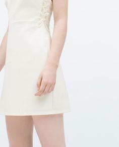 ZARA - SALE - DRESS WITH LACE-UP SIDES