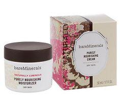 Natural beauties need to nourish their skin.  Moisturize your skin with @bareMinerals Skincare Purely Nourishing Cream.