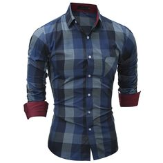 Cheap chemise homme, Buy Quality chemise homme brand directly from China chemise homme fashion Suppliers: Slim Fit Mens Plaid Dress Shirt Half Sleeve Casual Button Shirt Camisa Social Masculina 2017 Fashion Brand Shirt Chemise Homme Cool Shirts For Men, Casual Shirts For Men, Men Casual, Men Shirts, Casual Clothes, Social Dresses, Branded Shirts, Fashion Brand, Men's Fashion