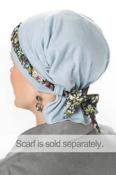 100% Cotton Looped Accessory Beanie - Chemo Scarf, Cancer Hat