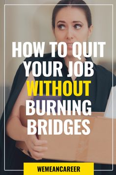 Are you about to quit your job? Deciding how to quit your job can be challenging. Read our article for tips on how to do it gracefully. Leaving A Job, Burning Bridges, Resume Builder, Current Job, Changing Jobs, Quitting Your Job, Starting Your Own Business, Be Your Own Boss, Emotional Intelligence