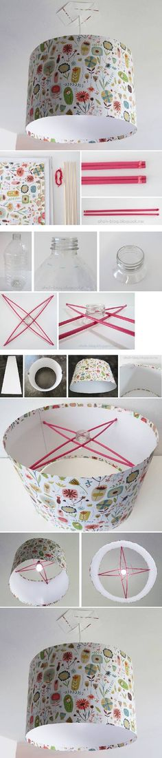 How To Make Your Own Lampshade diy craft crafts diy ideas diy crafts how to tutorial home crafts
